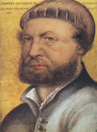 Self-Portrait of Hans Holbein the Younger (1542/1543).