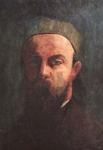 Self-Portrait of Odilon Redon (1880).