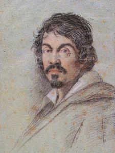 Portrait of Caravaggio by Ottavio Leoni (c. 1621).