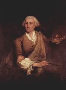 Portrait of Francesco Guardi by Pietro Longhi (1764).