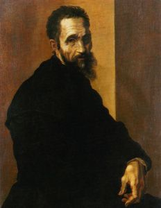 Portrait of Michelangelo Buonarroti by Jacopino del Conte ( c. 1535).