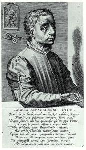 Portrait of Rogier van der Weyden by Cornelis Cort (1572).