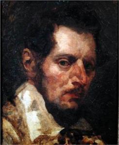 Self-Portrait of Theodore Gericault.