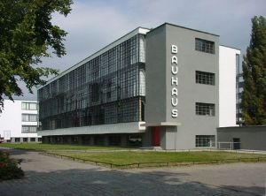 The Bauhaus building in Dessau, Germany, by Walter Gropius.