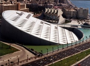 Another view of the new Alexandria library.