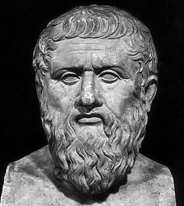 Marble bust of Plato.