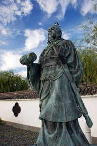 A statue of Sun Tzu in Yurihama, Tottori, Japan.