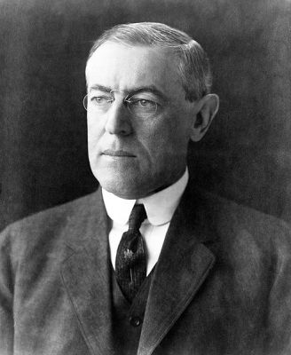 Photograph of Woodrow Wilson taken in December 1912 by Pach Brothers.
