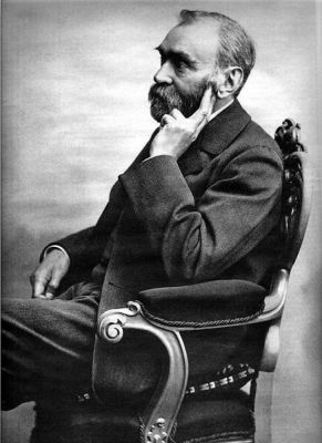 An undated photograph of Alfred Nobel by Gösta Florman.