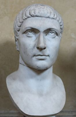 A bust of Constantine the Great from the 4th Century CE. It is now in the Museo Chiaramonti, Vatican City.