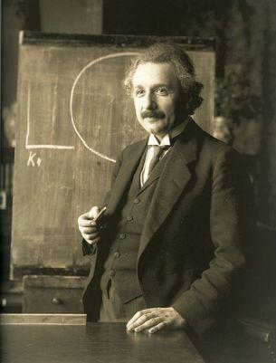 Albert Einstein in Vienna in 1921. Photo by F. Schmutzer.