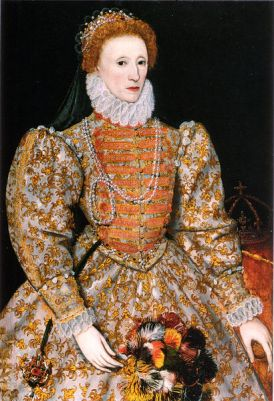 Portrait of Elizabeth I from 1575, known as The Darnley Portrait. It is located in the National Portrait Gallery, London.