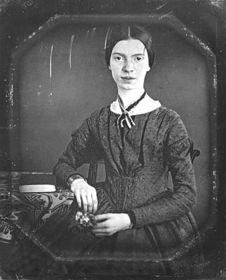 The only known photograph (actually a daguerrotype) of Emily Dickinson as an adult. It was taken between 1846 and 1848.