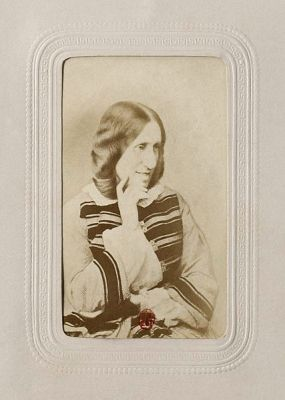 A photograph of George Eliot from about 1865. It is now in the National Library of France.