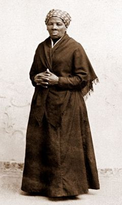 A photograph of Harriet Tubman by H. Seymour Squyer, taken about 1885.
