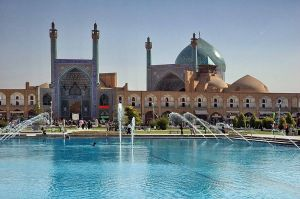 The Imam Mosque, in Isfahan.
