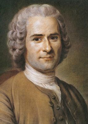 A portrait of Jean-Jacques Rousseau by Maurice Quentin de la Tour between 1750 and 1775. It is located in the Musée Antoine Lécuyer in Saint Germaine, France.
