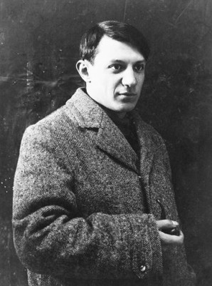 Pablo Picasso in 1908 or 1909.