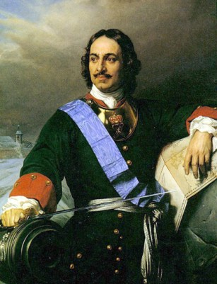 A portrait of Peter the Great by Paul Delaroche in 1838. It is located in the Hamburg Kunsthalle.