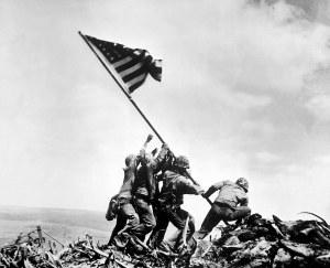 Raising the Flag on Iwo Jima.