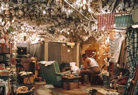 """Jeff Wall, After """"Invisible Man"""" by Ralph Ellison, the Prologue 1999-2000"""