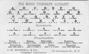 After the development of Continental (later International) Morse Code in the mid-1800s, the original version became known as American Morse Code, which was used in the U.S. until the middle of the 20th Century.