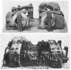 The remains of a ballista-type catapult found in Spain, dating to 400-200 BCE.
