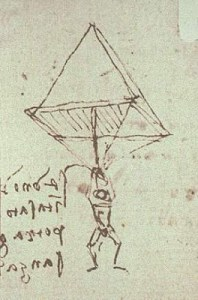 Da Vinci's 15th Century parachute design.