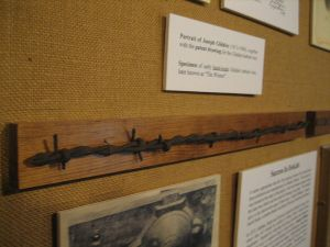 A handmade piece of Joseph Glidden's barbed wire, from the 1870s.