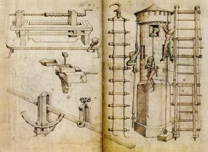 This illustration from the Housebook of Wolfegg Castle in Germany contains the earliest depiction of a screwdriver.