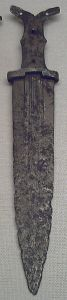 Steel dagger from the Iberian Peninsula, dating to between 450 and 200 BCE.