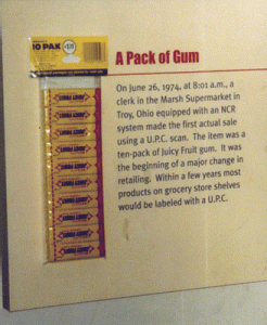 The first barcoded supermarket item ever scanned.
