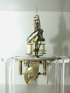 This early sewing machine was created by Austrian tailor Joseph Madersperger in 1825-1830.