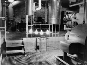 The first electricity generated by a nuclear reactor illuminates four light bulbs in an Idaho experimental laboratory in December 1951.