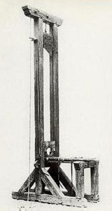 This guillotine was first used during the French Revolution and was last used in 1824 in Liege, France.