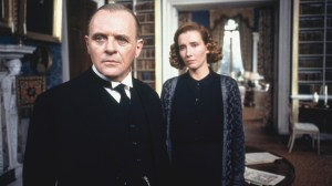 Anthony Hopkins and Emma Thompson in The Remains of the Day (1992).