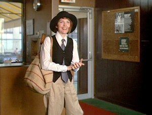 Diane Keaton in the title role of Annie Hall (1977).