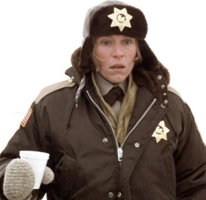 Frances McDormand won a Best Actress Oscar for her portrayal of pregnant Minnesota police chief Marge Gunderson in Fargo (1996).