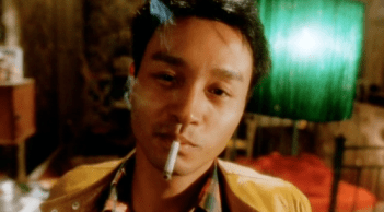 Leslie Cheung in Wong Kar-Wai's Happy Together (1997).