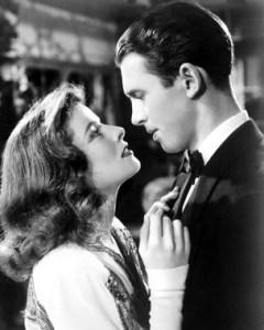 James Stewart and Katherine Hepburn in The Philadelphia Story (1940).