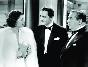 William Powell (center) and Myrna Loy in Libeled Lady (1936).