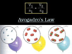 A graphic illustration of Avogadro's Law.