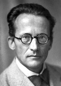 A photograph of Erwin Schrödinger (1887-1962).