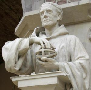 A statue of Roger Bacon at the Oxford University Museum of Natural History.
