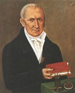 A portrait of Alessandro Volta.