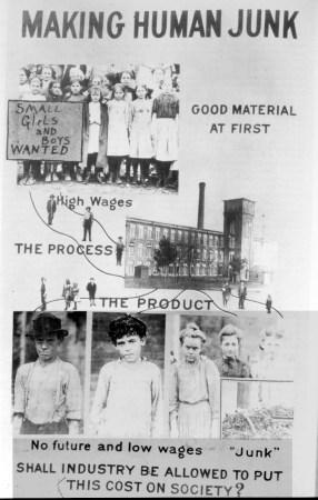 Lewis Hine's poster, Making Human Junk.