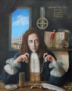 An artist's impression of Robert Hooke.
