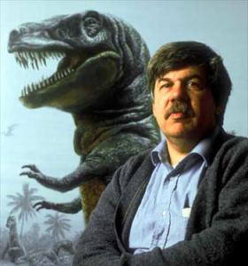 Stephen Jay Gould and friend.