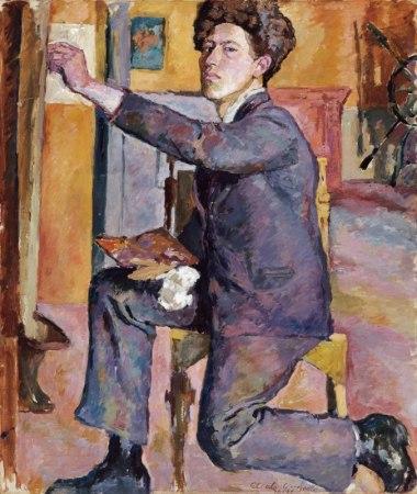 A 1921 Self-Portrait by Alberto Giacometti.