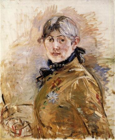 An 1885 Self-Portrait by Berthe Morisot.
